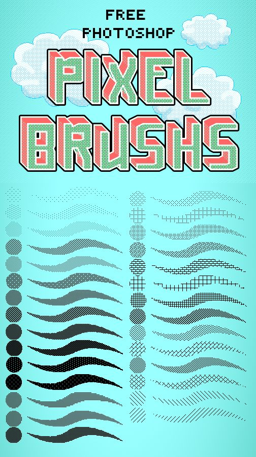 Photoshop Pixel Brushes by Jelly-716 - How to Art
