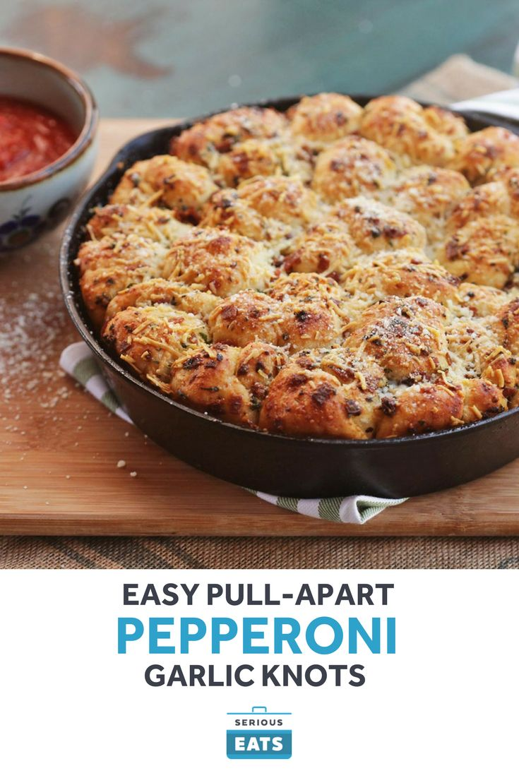 These super-simple pull-apart pepperoni garlic knots will kick your next party in the pants with flavor.