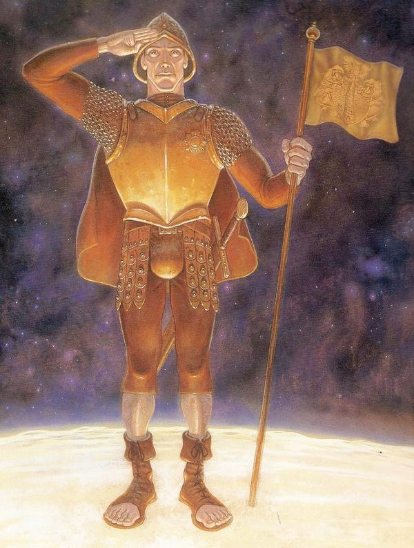Paul Kidby's depiction of Terry Pratchett's Carrot Ironfoundersson