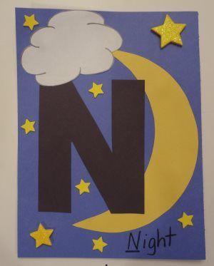 letter N van nacht