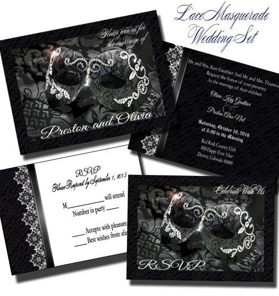 the 25+ best masquerade wedding invitations ideas on pinterest, Wedding invitations