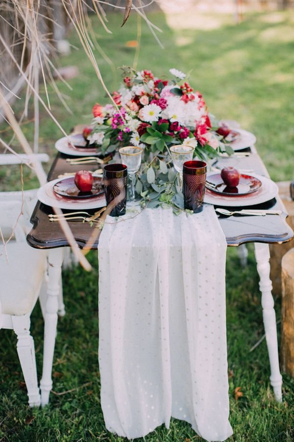 boho romantic reception table - photo by Endless Exposures Photography http://ruffledblog.com/styled-boho-engagement-party