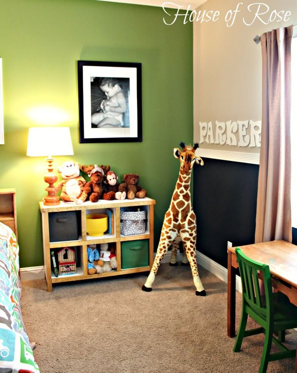"{Big Boy Room} The Re-do: From Toddler to Kindergartner-cute ideas on how to re do Evan's room, with exception of the 42"" flat screen TV...seriously?!"