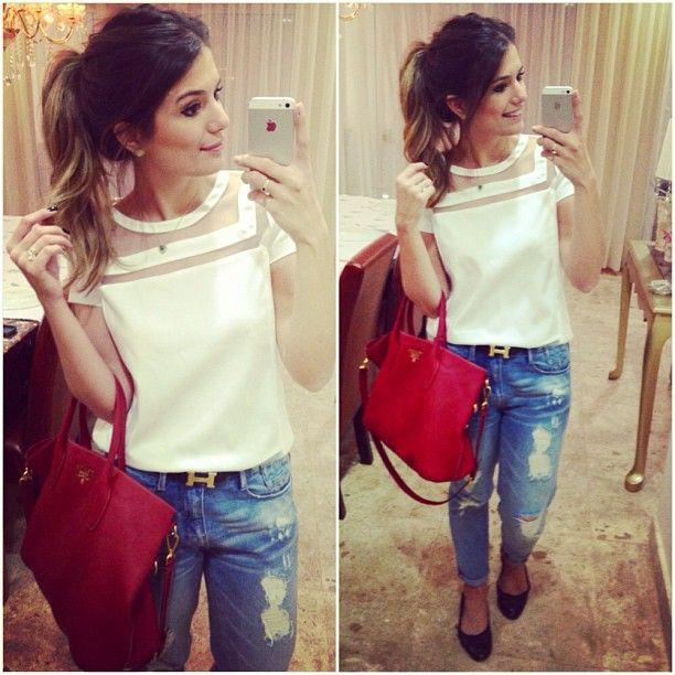 Hoje de jeans e blusa @analoren #lookdodia #blogtrendalert #arianecanovas