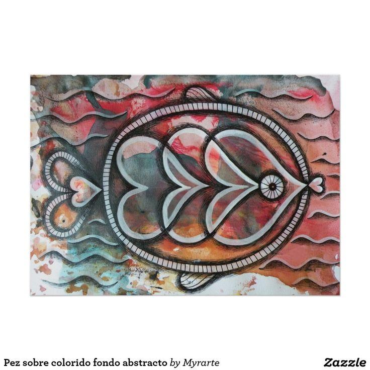 Pez sobre colorido fondo abstracto. Producto disponible en tienda Zazzle. Product available in Zazzle store. Regalos, Gifts. Link to product: http://www.zazzle.com/pez_sobre_colorido_fondo_abstracto_poster-228142876147308172?CMPN=shareicon&lang=en&social=true&rf=238167879144476949 #poster #pez #fish