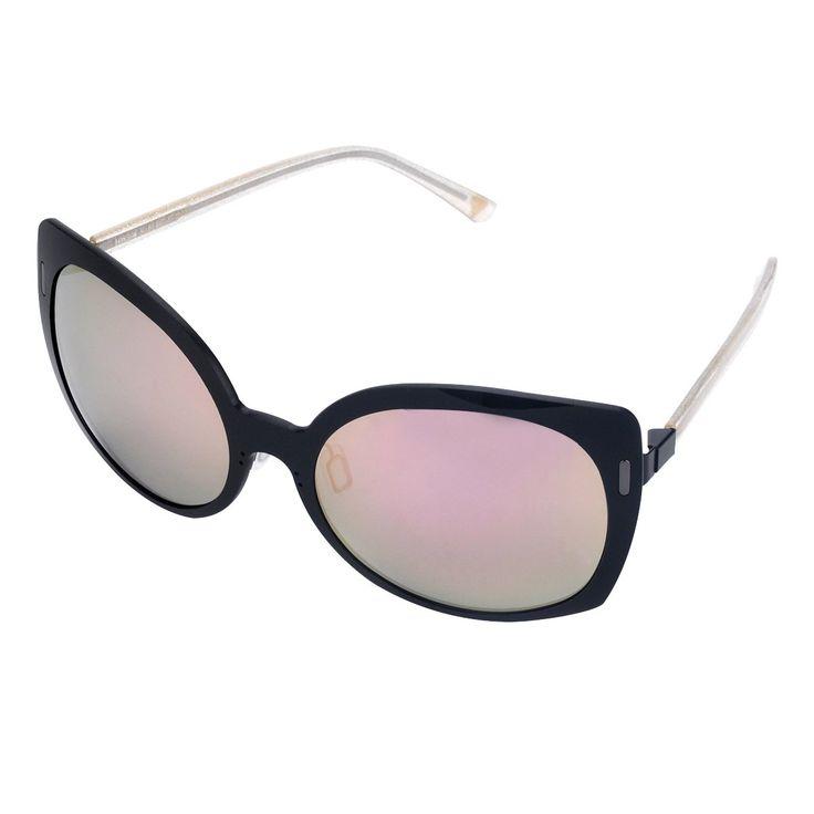 Motif Femmes Fleur Multicolor Arms Rim Lens Sunglasses complètes jaunes 9BWiSw