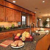 Transitional Kitchen Cabinetry and Kitchen Island Cabinety