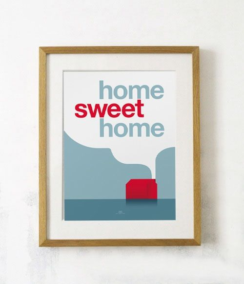 Image of Affiche Home Sweet Home