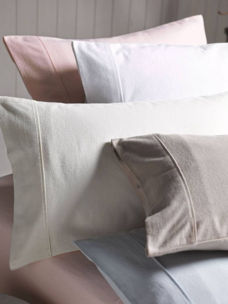 Linen House Flannelette Plain-Dyed Sheet Sets, available at Forty Winks.