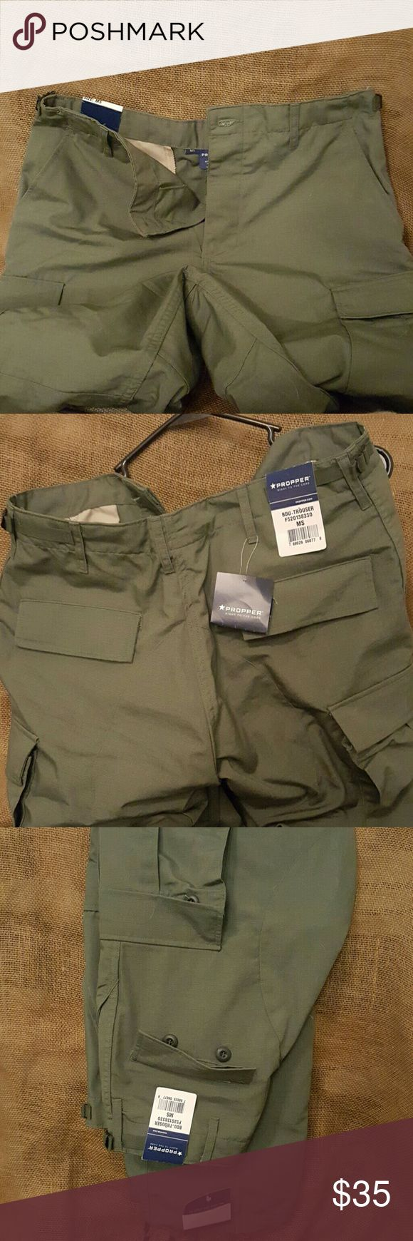 "Propper Tactical Green Ladies Womens Pants Medium Green tactical field pants. Many pockets. Size medium short. They are 18"" at the waist. 40"" long. Propper Pants"