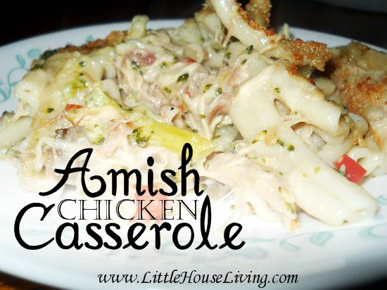 Amish Chicken Casserole Recipe. From-scratch, easy, and delicious! Perfect family meal.