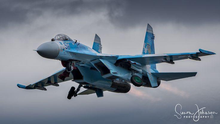 "https://flic.kr/p/VF5k2z | "" Russian Hardware "" | Sukhoi Su-27 Flanker, of the Ukrainian airforce, RIAT 2017."