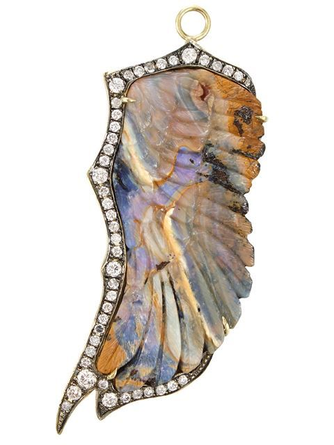 Sylva & Cie Opal Wing Pendant - Jewelry Gallery At Marissa Collections - Farfetch.com