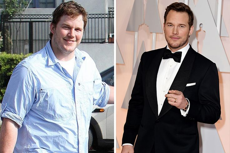 Chris Pratt Wow what a difference, right? Chris Pratt once weighed 280 pounds and was turned down for several roles until he focused on losing weight and building muscle, and is now the hunk we know today.