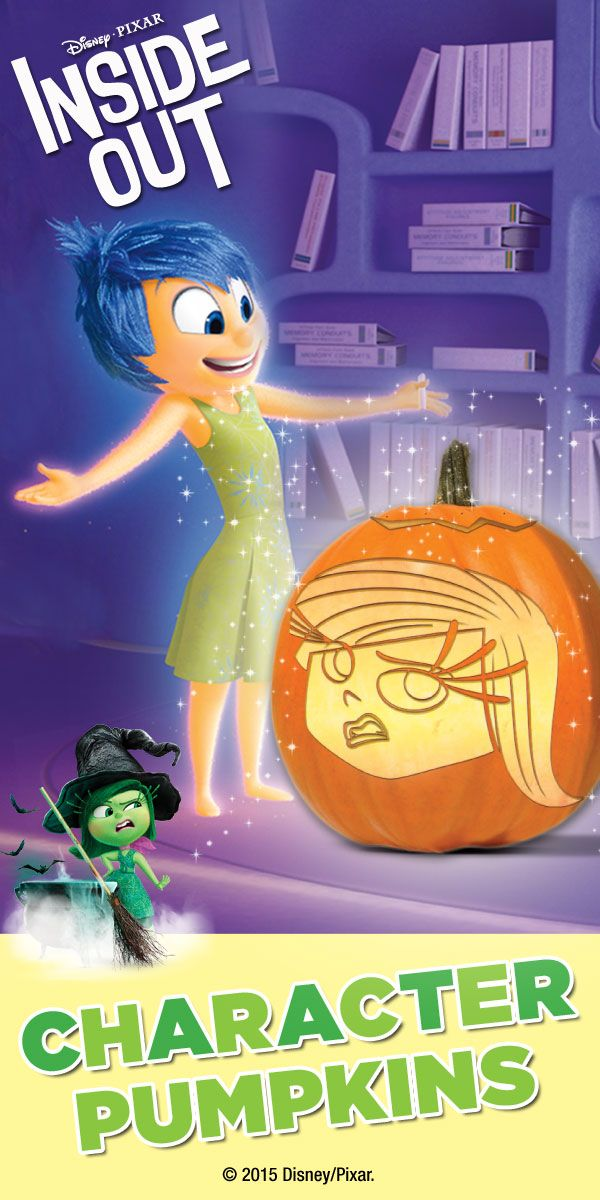 Disney Pixar Inside Out Pumpkin Carving Templates and Patterns