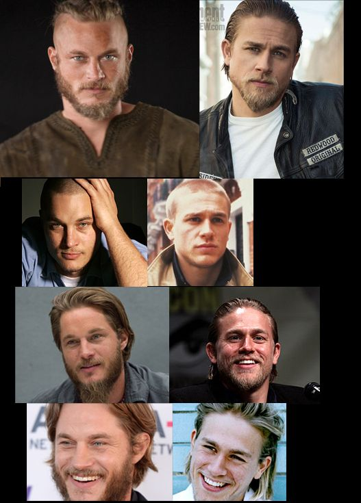 Travis Fimmel (Vikings) x Charlie Hunnam (Sons of Anarchy) I'll take a big scoop of both please.