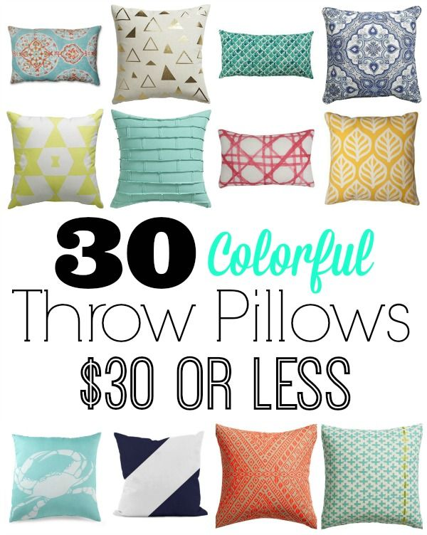 Elegant 30 Colorful Pillows For $30 Or LESS. Cheap Throw ...