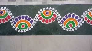 Image result for border rangoli designs for doors