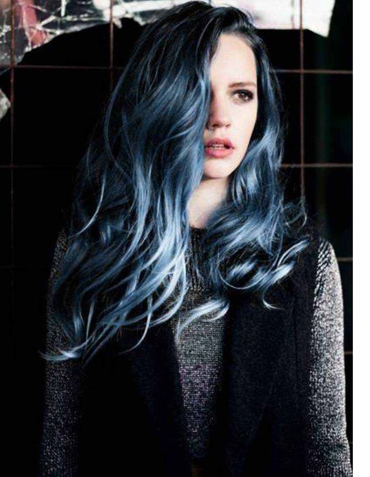 17 Best ideas about Dark Blue Hair Dye on Pinterest  Dark