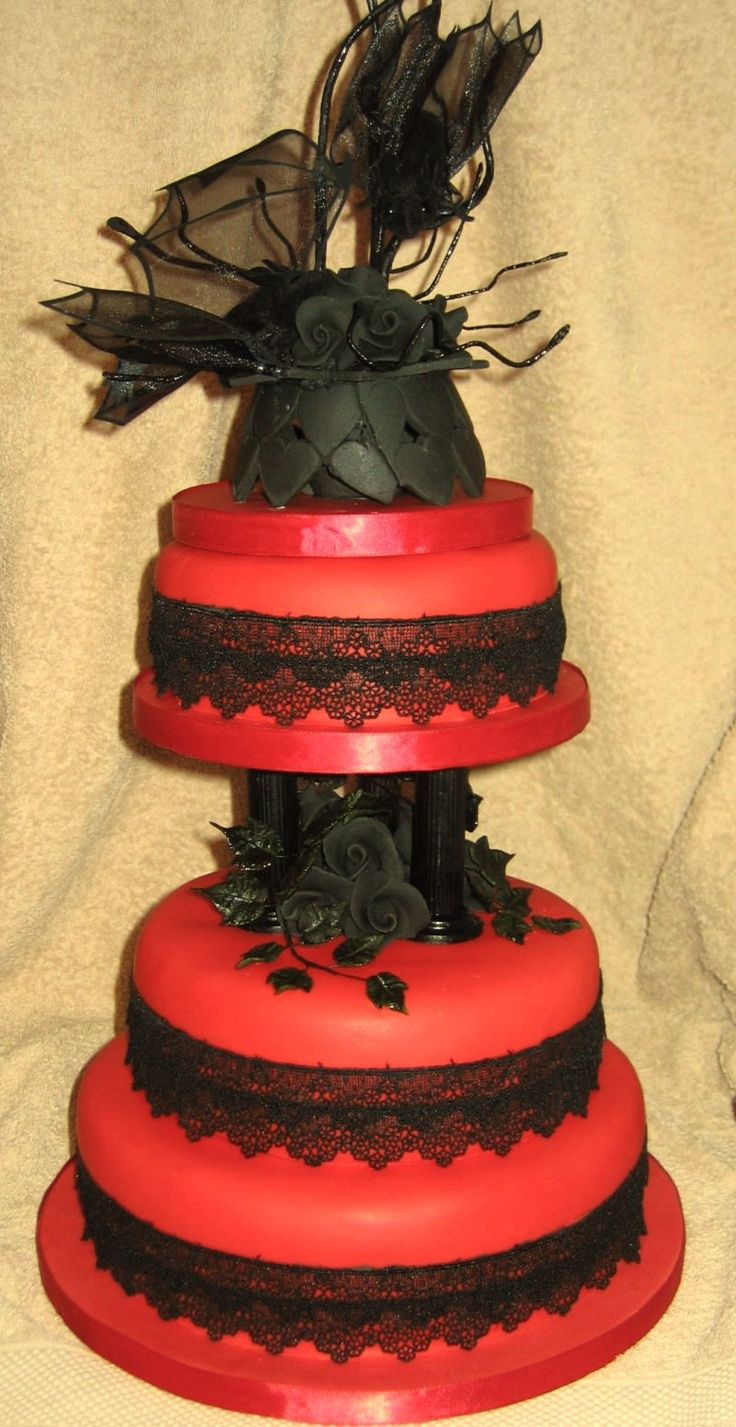 Pastel Goth Wedding Cake