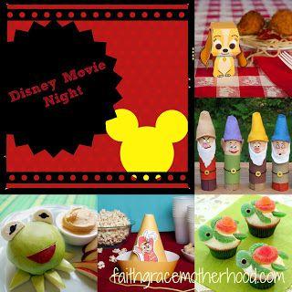 Disney Movie Night - food and activities to pair with movies