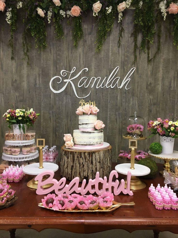 Rustic baby shower decor wood background rustic decor baby ...