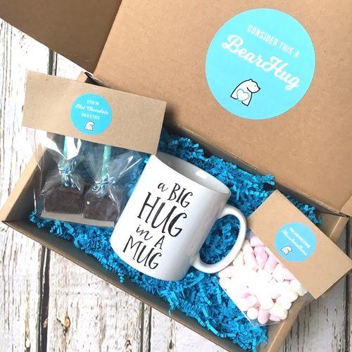 yours blissfully mug bearhugs gift box big hug in a mug hot chocolate