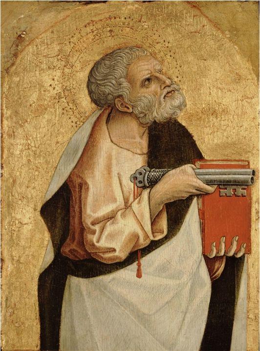 565. Carlo Crivelli - Polittico di Montefiore dell'Aso - San Pietro - 1471 - Detroit, Detroit Institute of Arts
