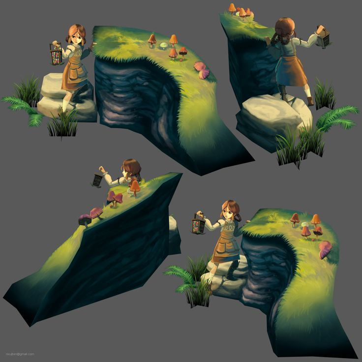 Legend of Fae's Claudia: character & small environment