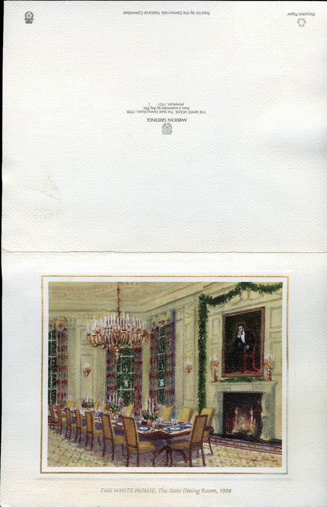 2 clinton white house christmas cards | Autographs | Pinterest ...