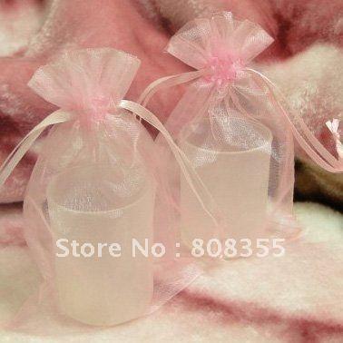 Promotion-100pcs 10x15 см Розовый Цвет Sheer Органза Подарочные Пакеты Свадьба Декор коробка Конфет