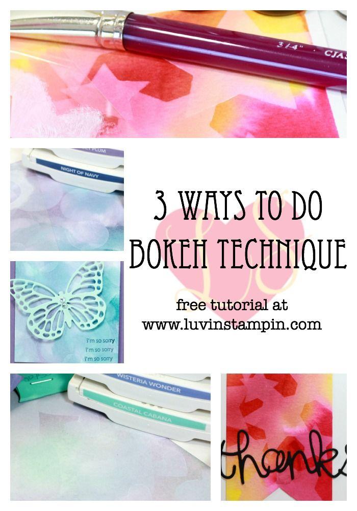 bokeh technique