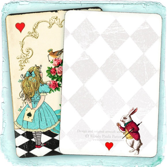 Alice in Wonderland Invitation Note Cards