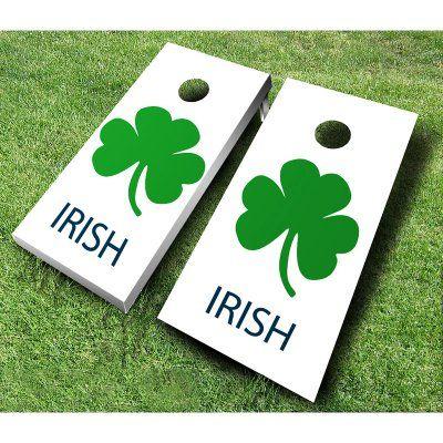 Irish Tournament Cornhole Set Royal Blue Kelly Green - 703-ROYAL/KELLY, AJJ006-43
