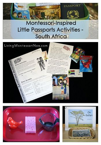 Montessori-inspired activities that work well with the Little Passports South Africa package (post includes links to free printables)