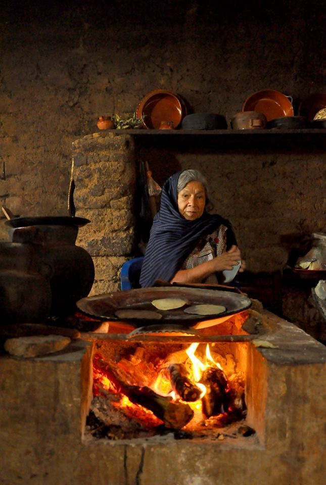 Tortillas, the old fashion way . Mexico