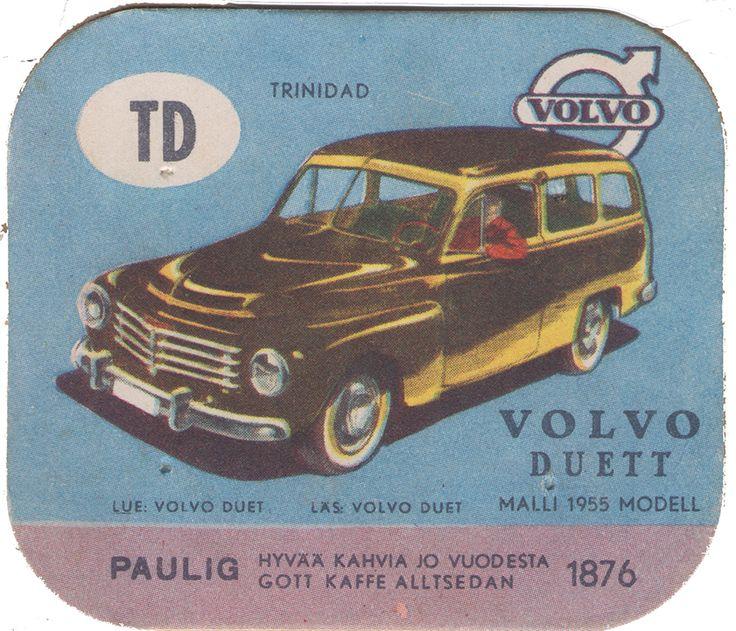 En nostalgitripp fram till jul med hjälp av Pauligs bilkort från mitten av 1900-talet. Volvo Duett #cars #vintage