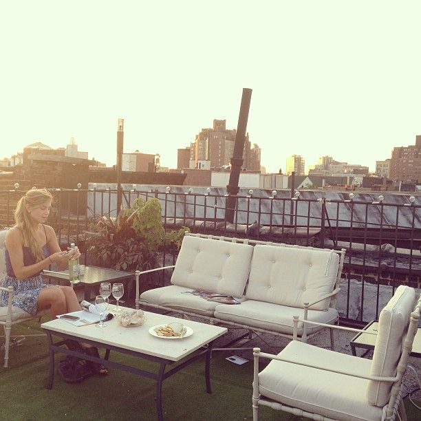 Hey, Instagram, has everyone packed? Tomorrow we leave for Europe for two weeks! Of course we'll miss New York while we're gone, but what better way to say goodbye than with a rooftop picnic of crackers, brie, and a bottle of white wine. (Plus tons of gorgeous afternoon light!)  #so #long #NYC #seeyousoon