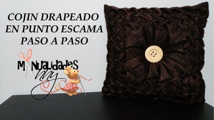 CLASE V - COJIN DRAPEADO EN ESCAMA PUNTO CAPITONE PASO A PASO | Manualid...
