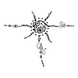 Polynesian sun tattoo