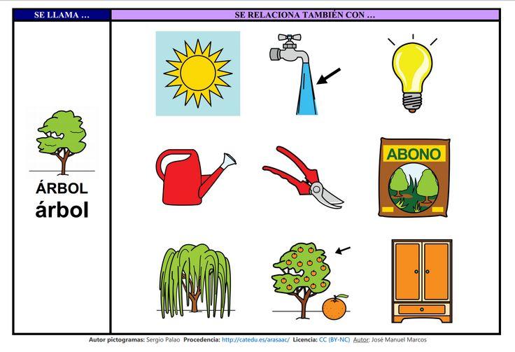 Mapa semántico sobre el Árbol (lámina 2), A través de esta actividad, podremos trabajar la comprensión y la expresión oral, así como la adquisición de vocabulario. http://informaticaparaeducacionespecial.blogspot.com.es/2009/03/actividades-generadas-partir-del-mapa_20.html
