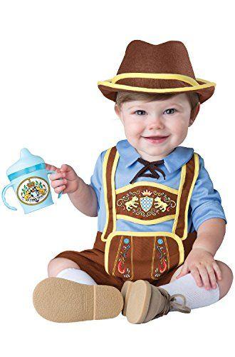 InCharacter Costumes Baby Boys' Little Lederhosen Costume, Blue/Brown, Medium