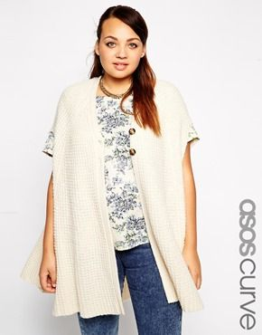 ASOS CURVE Exclusive Knitted Swing Cardigan
