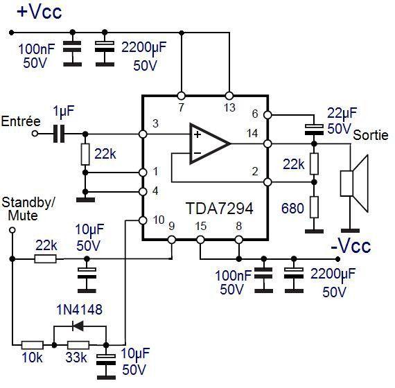 l ampli tda7294 5 Електрична Схема, Arduino, Електронна ...