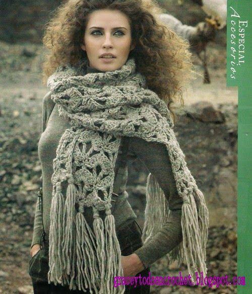 Beautiful scarf stole...Preciosa estola bufanda.