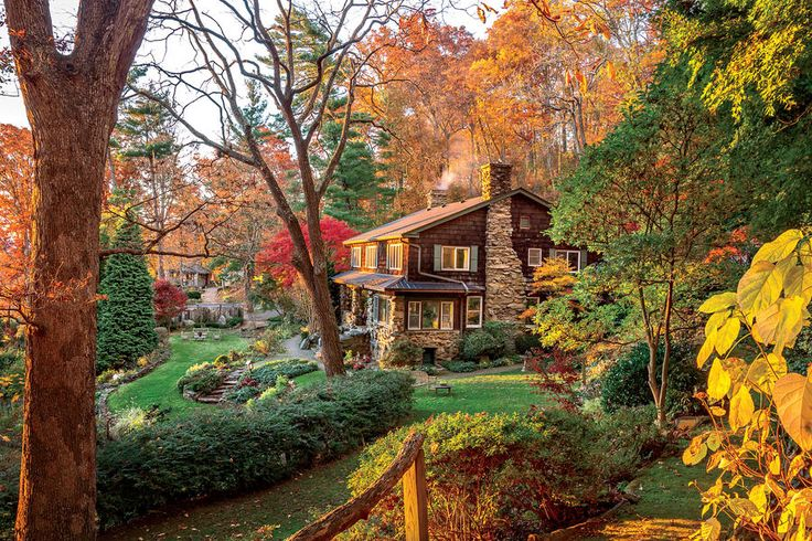 Crisp Fall Air- Smoke rises into the crisp fall air from the chimney of the house that Secretary of State William Jennings Bryan and President Herbert Hoover both once called home.