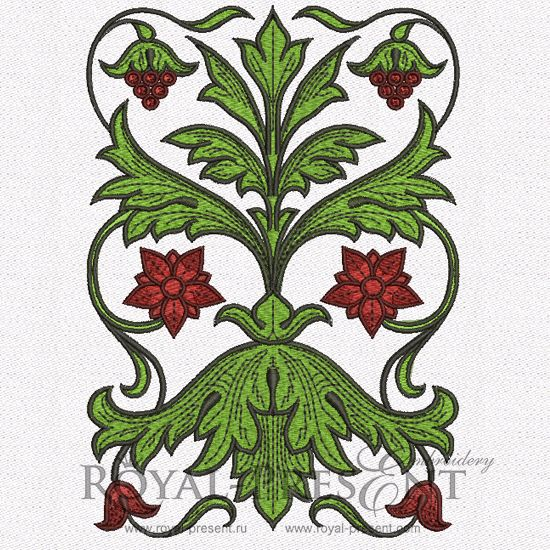 Machine Embroidery Design - Vintage ornament | border of the early 19th century (2 in 1)