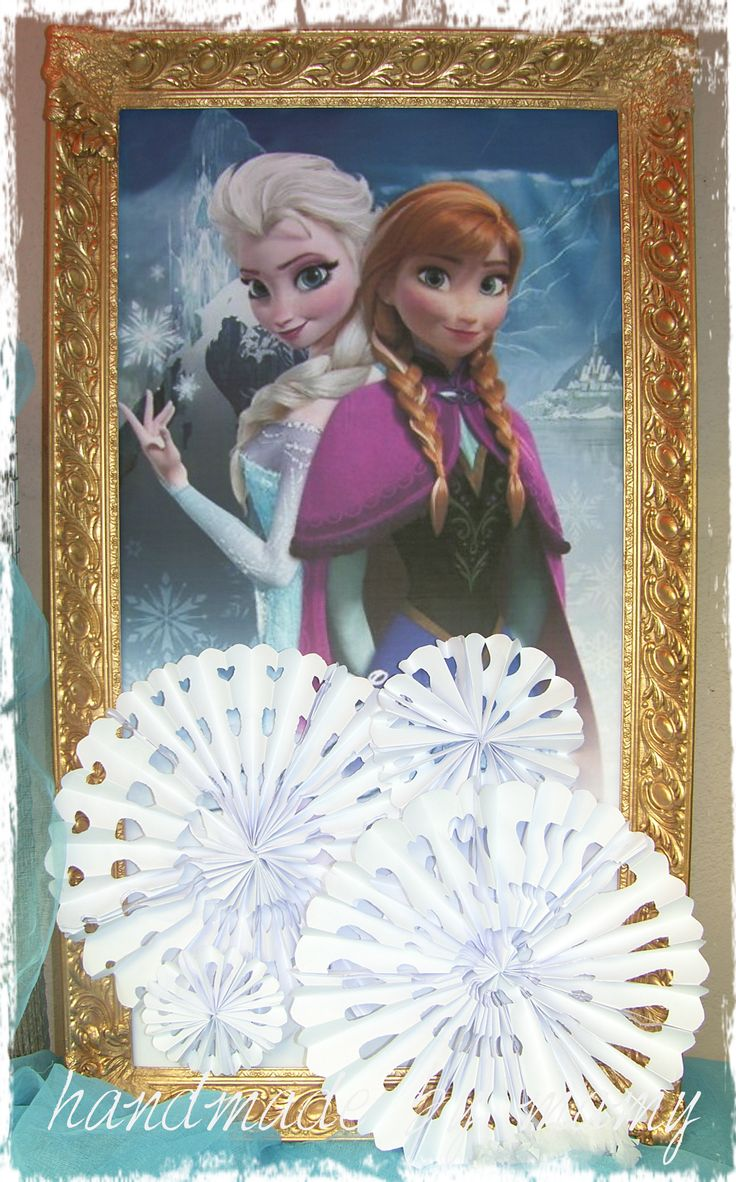 old frame with frozen poster