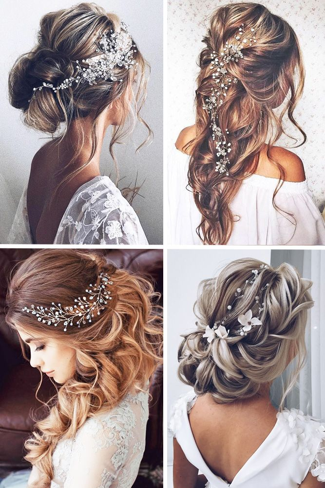 wedding dress shopping guide collage for hairs