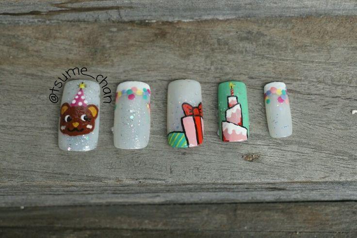 Happy Birthday Nails.